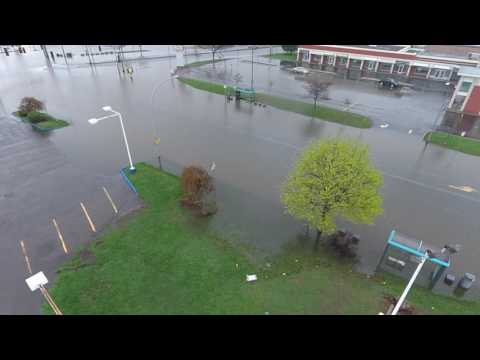 Unedited: Video of Flooding Montreal West Island