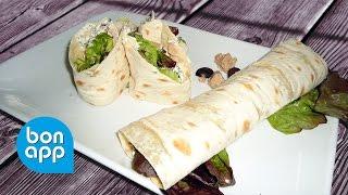 Закуска из лаваша / Лаваш с тунцом и сливочным сыром