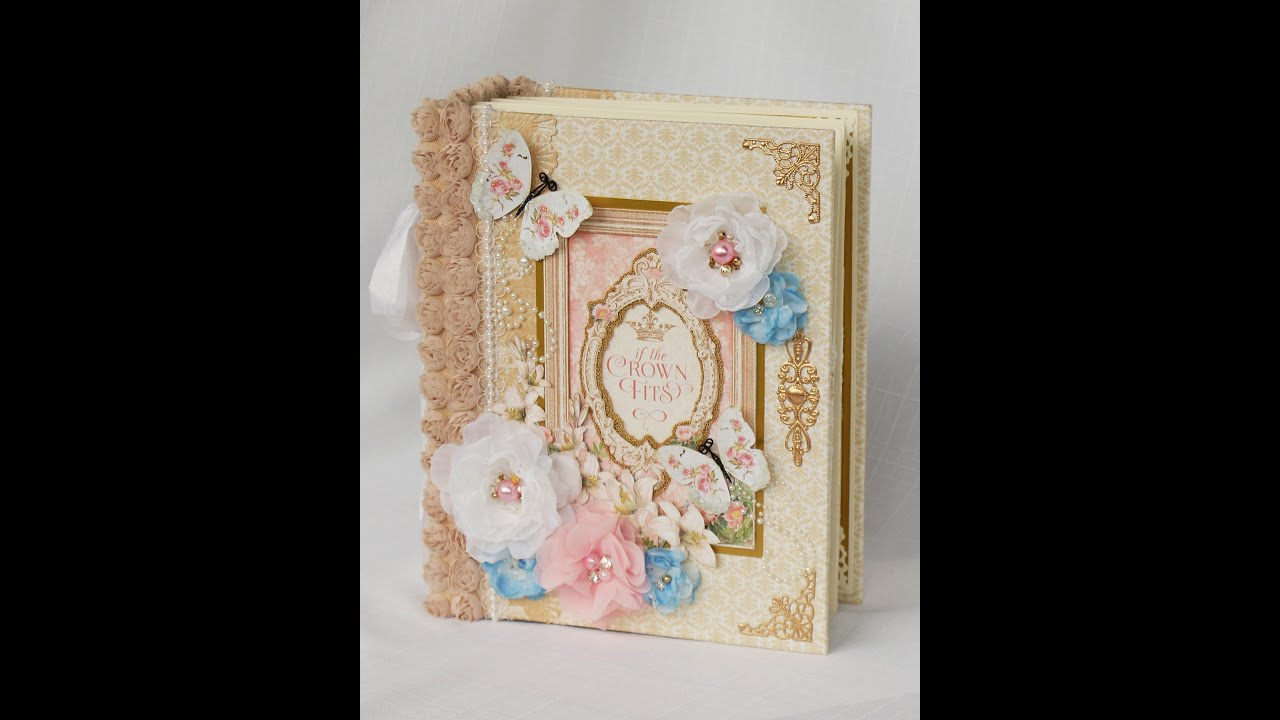 graphic 45 gilded lily mini scrapbook photo album youtube. Black Bedroom Furniture Sets. Home Design Ideas