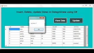 Dynamically Insert, Update, Delete Datas in DATAGRIDVIEW in DOT NET