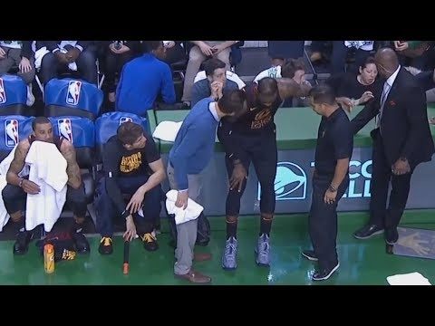 Lebron James Limps To Bench After Injuring Knee!