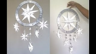HOW TO MAKE CHRISTMAS STAR HANGING USING PAPER/DIY CHRISTMAS CRAFTS