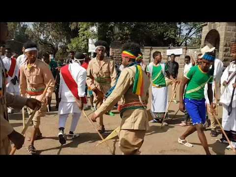 Addis Ababa University students celebrating Patriots' Day