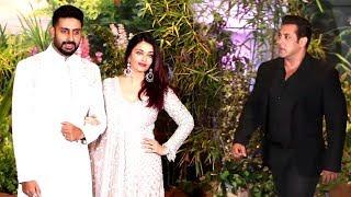 Salman Khan's DABANG Entry In front Of Ex Girlfriend Aishwarya Rai At Sonam Kapoor's Reception
