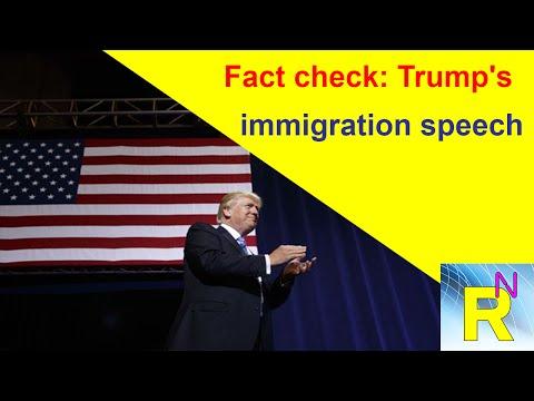 Read newspaper - Fact check Trump's immigration speech