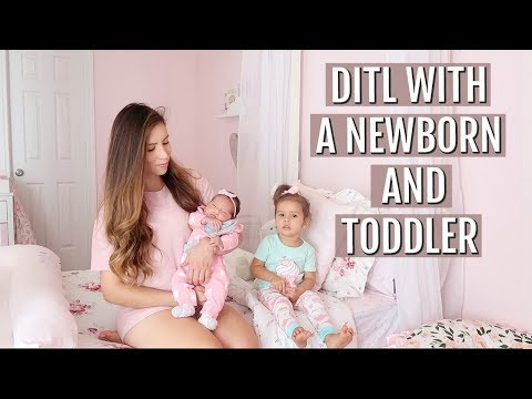 DAY IN THE LIFE WITH A NEWBORN AND TODDLER!