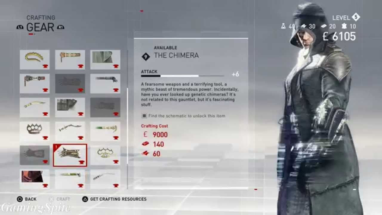 Assassins Creed Syndicate Chimera Gauntlet Schematic Location