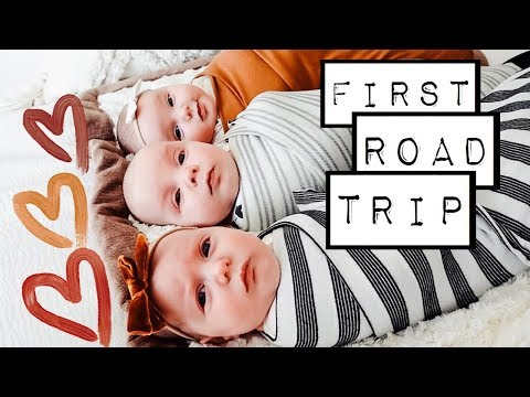 The triplets VERY FIRST road trip