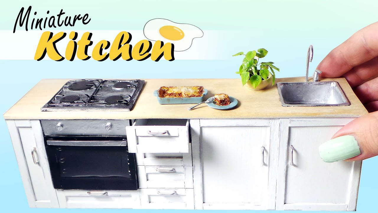 kitchen miniature kohler pull out faucet tutorial dolls dollhouse diy youtube