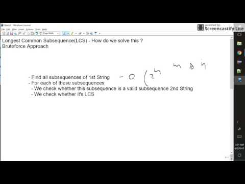 Longest common Subsequence(LCS) using Brute Force Approach