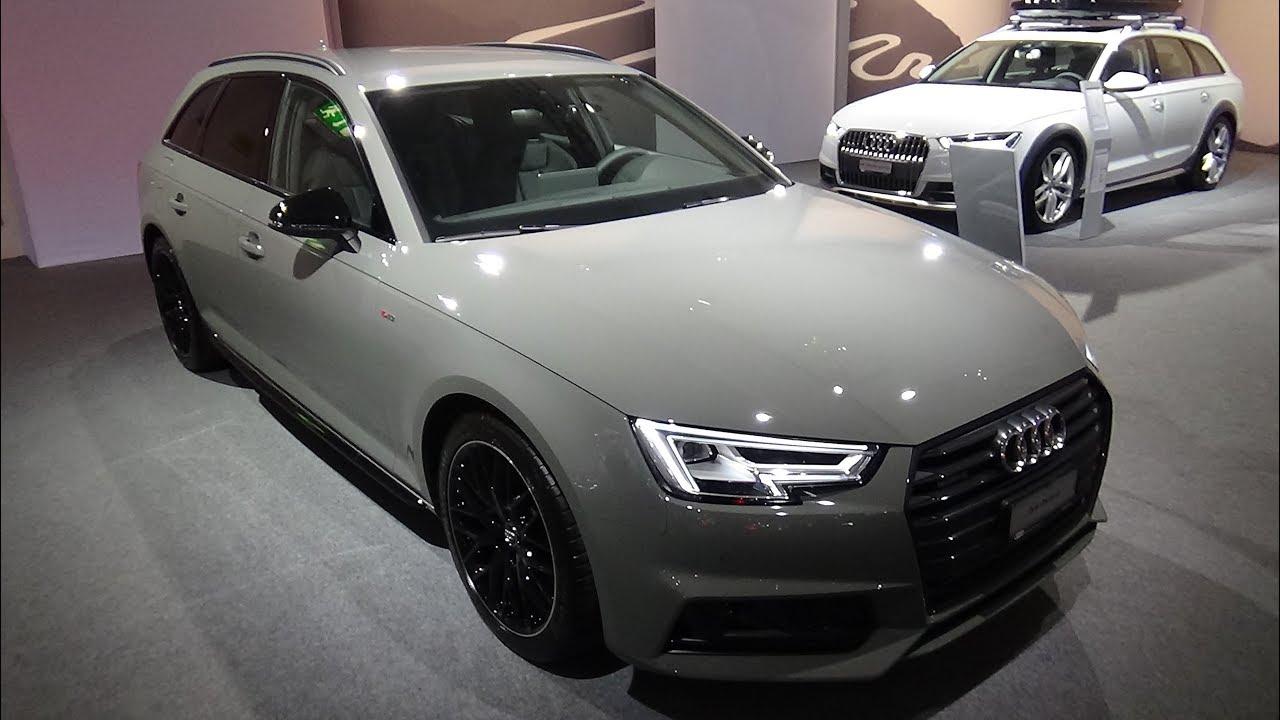 2018 Audi A4 Avant Sport S Line Black Exterior And Interior Auto Zurich Car Show 2017