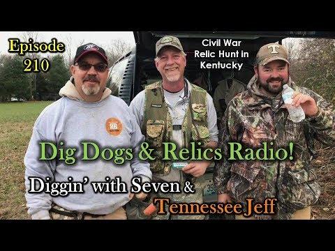 Episode 210 – Dig Dogs & Relics Radio Relic Hunt in Kentucky! METAL DETECTING!