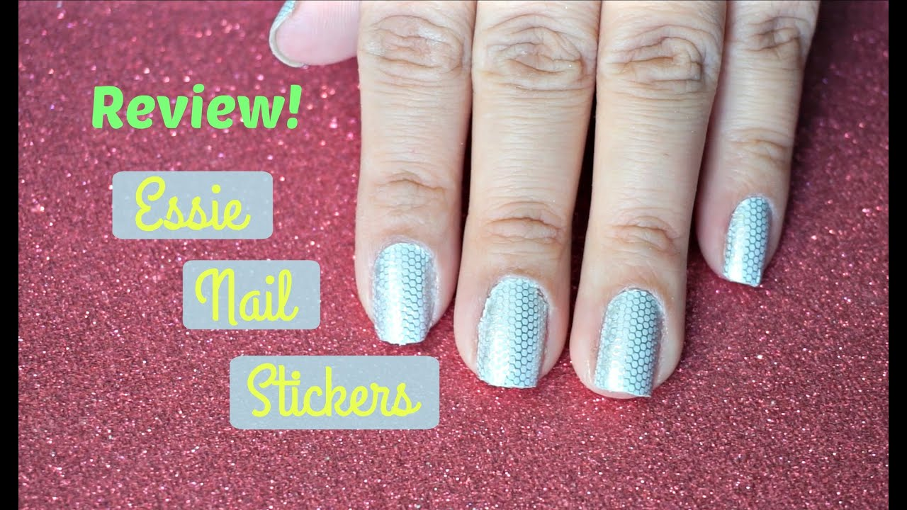 Review: Essie Nail Stickers - SimplyyTania - YouTube