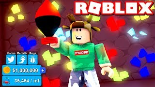 HOW TO MAKE EASY $1,000,000 IN ROBLOX MINING SIMULATOR! (OP NUKE WEAPON)