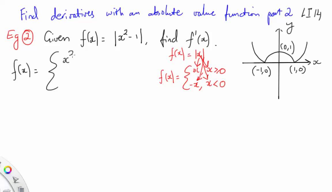 14 find derivatives with an absolute value function part 2 youtube 14 find derivatives with an absolute value function part 2 ccuart Image collections