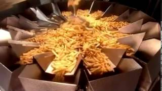 Как делают замороженный картофель фри ؟