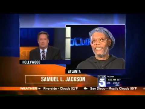 Showbiz Reporter  Confuses Samuel L  Jackson with Laurence Fishburne live on air