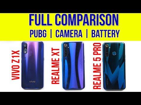 Realme XT vs Vivo Z1x, Realme 5 Pro: Camera Comparison   Battery Test   PUBG Gameplay   FINAL WINNER