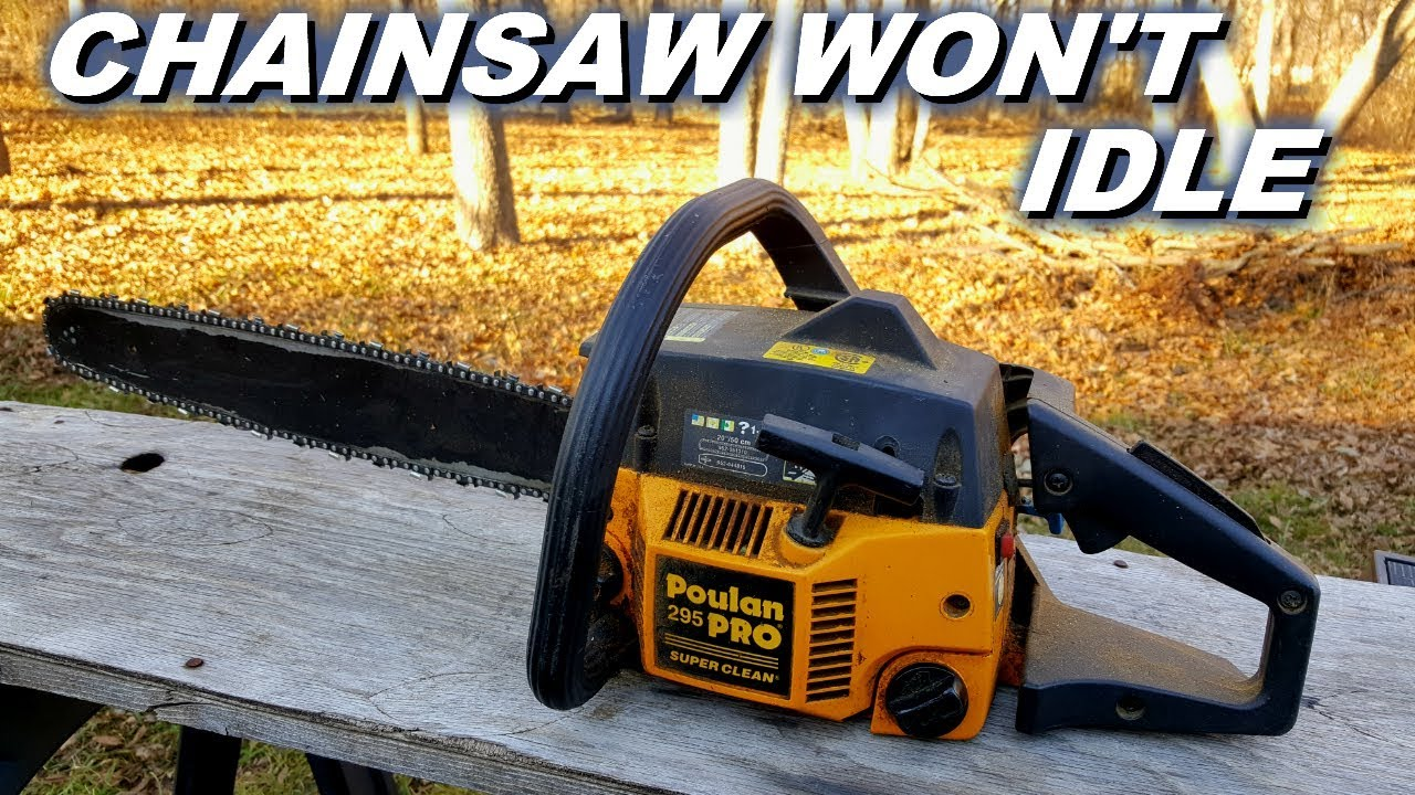 Poulan chainsaw won't idle