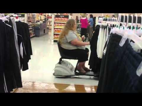 Fat Lady Honks Powercart Horn at Wal-Mart