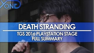 Death Stranding - Release Date, Engine, & Heroine Hinted, MG Survive Diss, & More from TGS 2016
