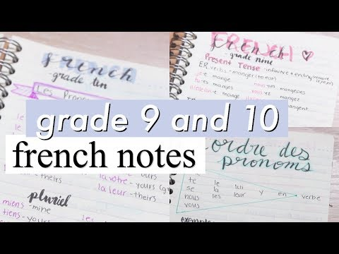 How to say i am in grade 10 in french