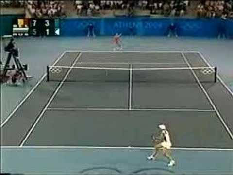 Justine Henin vs Anastasia Myskina Athens 2004 Semi 8/17