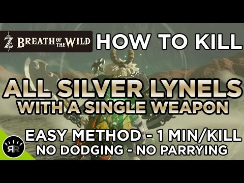 Zelda: Breath Of The Wild -  KILL ALL SILVER LYNELS WITH A SINGLE WEAPON - (1 MIN/KILL)