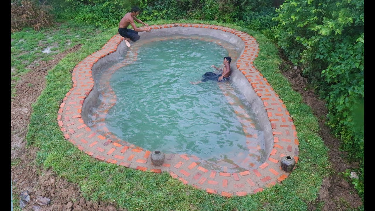 Build Brick Swimming Pool For Summer (Part 2)