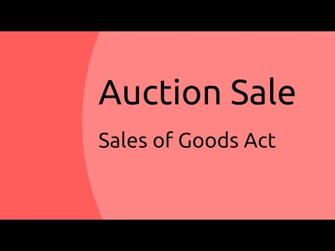Auction Sale  | Unpaid Seller | Sale of Goods Act 1930 | CA