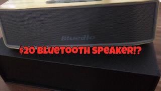Best $20 Bluetooth Speaker! (Bluedio BS 2 Review)