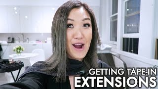 getting tape-in extensions | WahlieTV