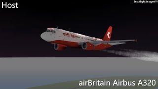 HOST | airBritain Airbus A320 Flight | ROBLOX