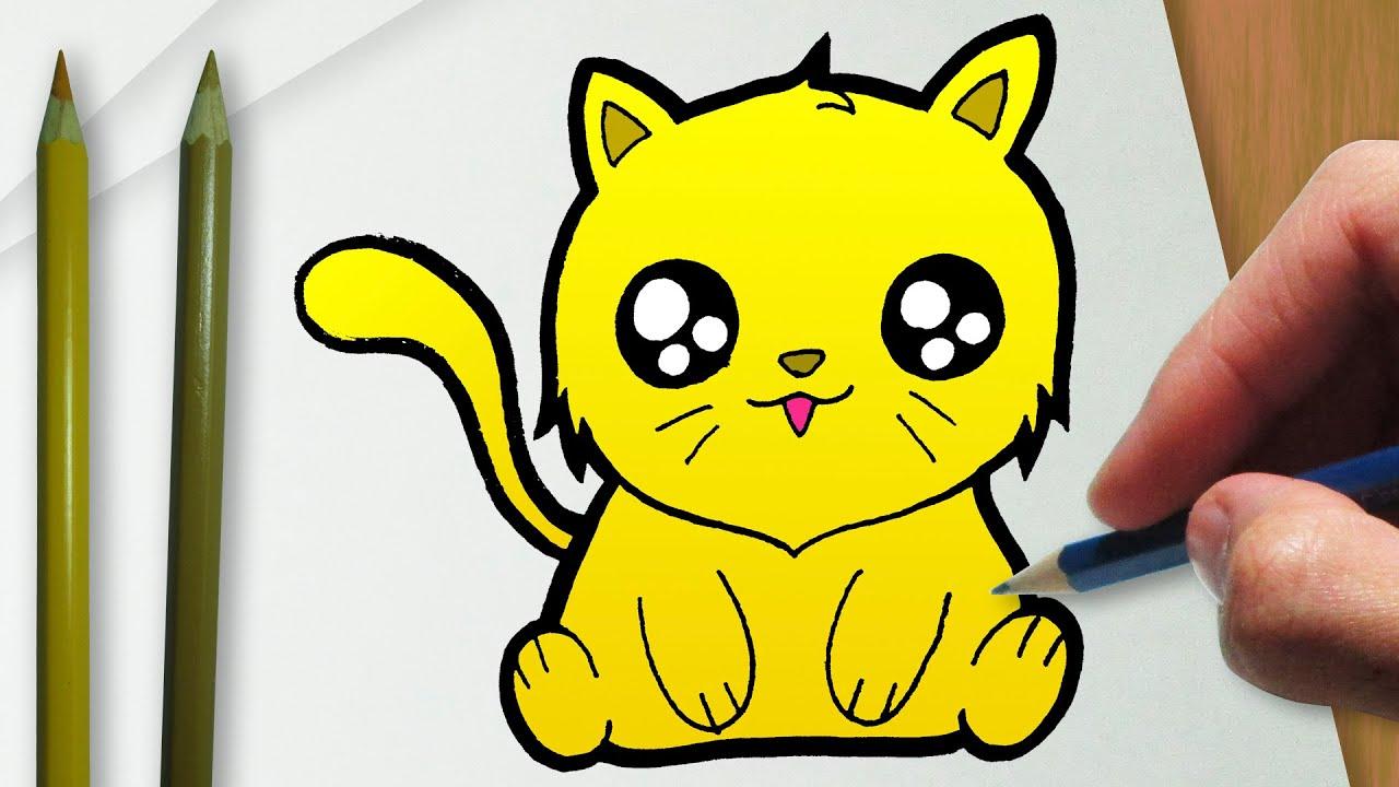 Como Desenhar Um Gato De Ouro Kawaii Youtube