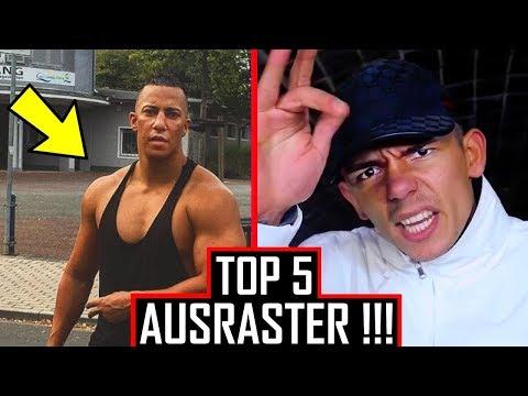 😡 TOP 5 AUSRASTER von Rappern 😡 Gzuz, Capital Bra, Azet...