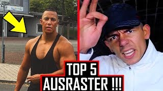 😡 TOP 5 AUSRASTER von Rappern 😡 Gzuz, Capital Bra, Azet...