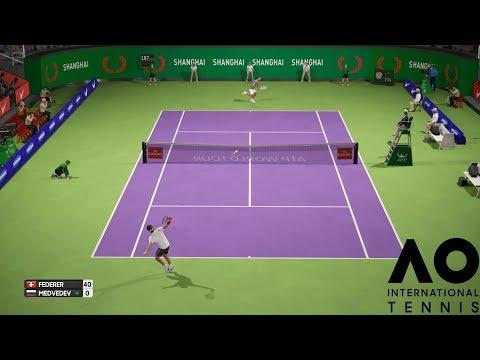 AO International Tennis - Roger Federer vs Daniil Medvedev - PS4 Gameplay