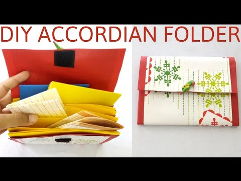 DIY ACCORDIAN FOLDER   Accordian File