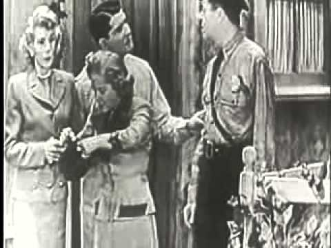 Vintage Old 1950's Burns and Allen Comedy Show season 1 episode 5 Gracies checking account