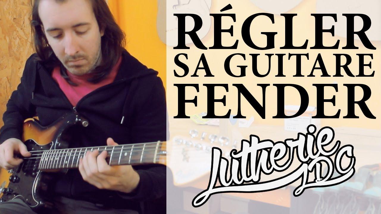 RÉGLER SA GUITARE DE TYPE FENDER  LUTHERIE  YouTube ~ Bois De Lutherie Guitare