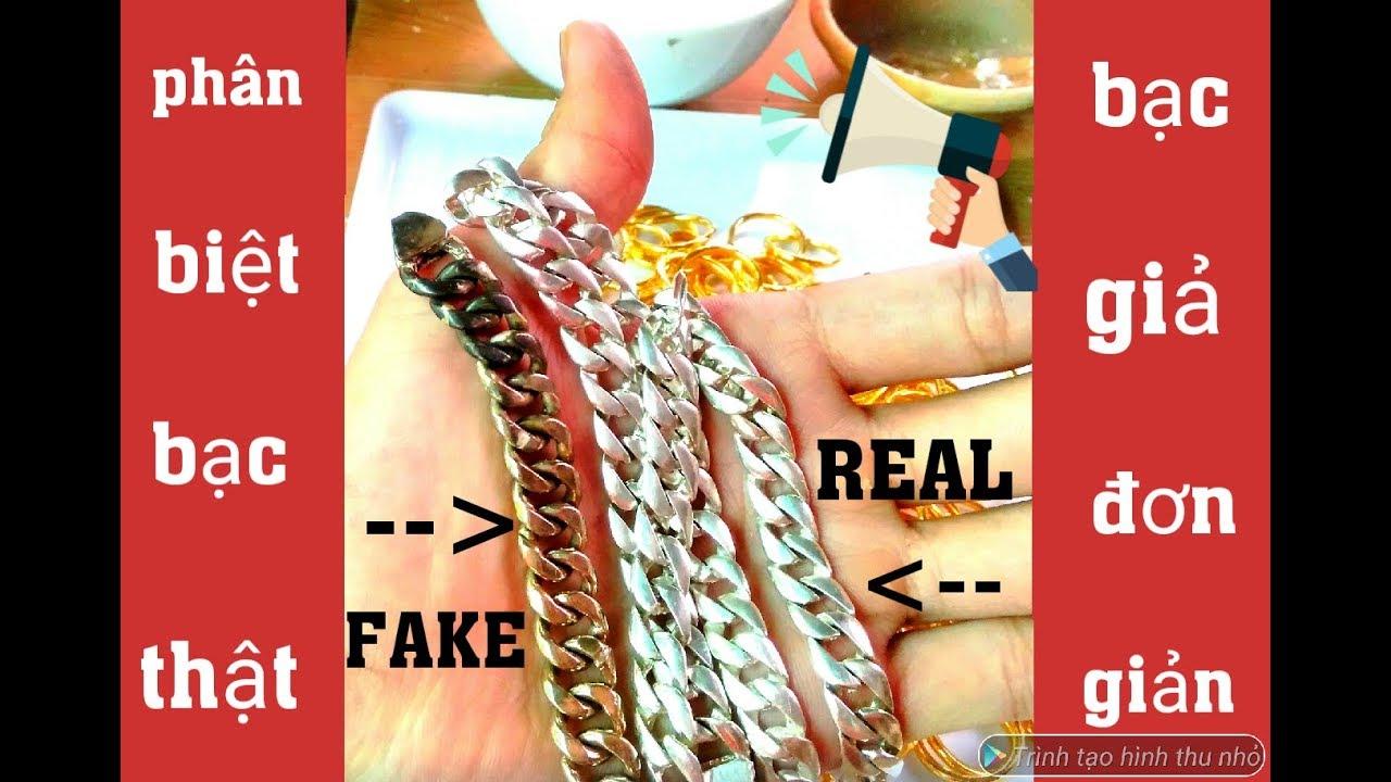 PHN | phân biệt bạc thật bạc giả đơn giản  | silver real and silver fake
