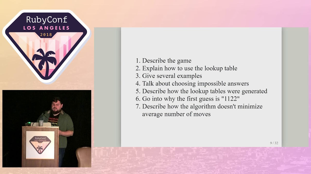 RubyConf 2018 - Beating Mastermind: Winning with the help of Donald Knuth  by Adam Forsyth