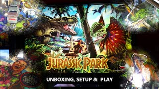 Game | Let s Unbox, setup Play Jurassic Park Pinball Stern Pinball | Let s Unbox, setup Play Jurassic Park Pinball Stern Pinball