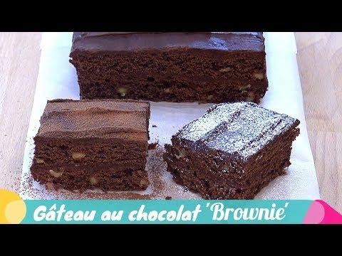 gâteau-au-chocolat-brownie-avec-glaçage-(recette-facile-et-rapide)