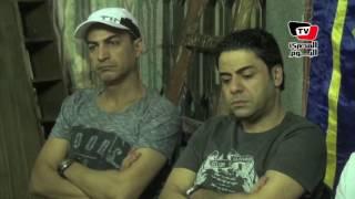شعبان عبد الرحيم ومجد القاسم في عزاء مخرج «تسلم الأيادي»