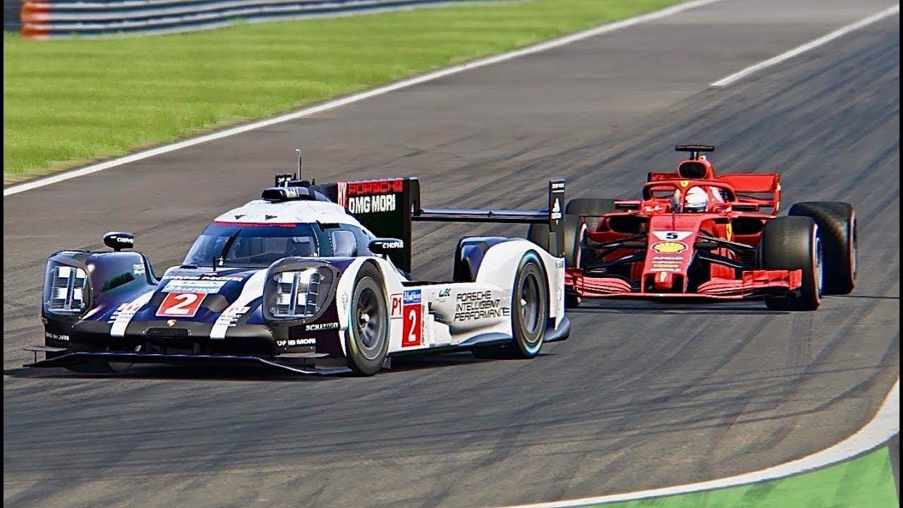Ferrari F1 2018 Vs Porsche 919 Hybrid Le Mans
