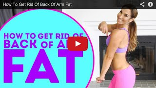 How To Get Rid Of Back Of Arm Fat | Natalie Jill