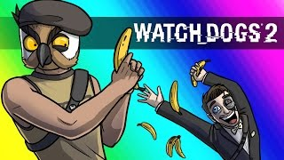 Watch Dogs 2 Funny Moments - Banana Cleaners!