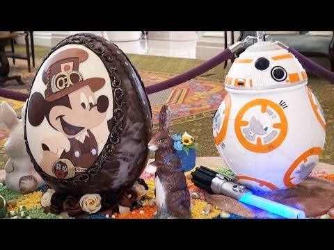 Disney's Grand Floridian Chocolate Easter Egg Display 2016 w/ BB-8, Inside Out, FROZEN