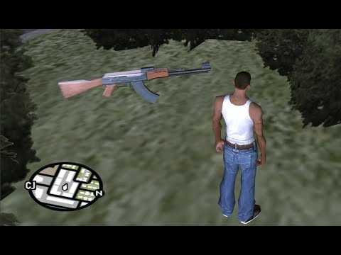 How To Get All The AK-47 Assault Rifles At The Very Beginning Of The Game - GTA San Andreas